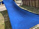藍染、5.2m、生地、麻100%、国産112cm巾の画像