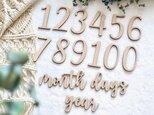 15点  MDF レターバナーセット 出産祝い マンスリー 月齢の画像
