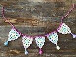 【送料無料】コットン糸 子どもとベビーのためのかぎ針編みのガーランド クロシェット ウォールデコの画像
