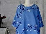 着物リメイク 浴衣のチュニックブラウス/フリーサイズ/綿絽の画像