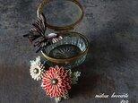 つまみ細工 大人の髪飾り (  大正浪漫的 菊花とアゲハ蝶の髪飾り  )の画像