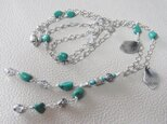 Turquoise+Silver☆Long Necklaceの画像