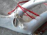 シルクネックレス「光の蕾」ダイヤモンドクリスタル&silverの画像