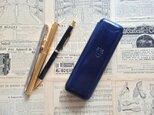 【受注製作】ポルタペンネ(ペンケース)/BLUEの画像