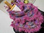 ♪花hana花♪おしゃれメビウス編みストールAの画像