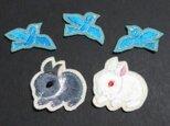 『オーダー品』子ウサギ&小鳥*アップリケ・セットの画像