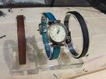 本革3連カラー腕時計/別カラーもありの画像
