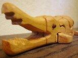 木の立体動物パズル「ani-woods」わにの画像