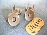 マグネットボタン アンティークゴールド 18mm 10個セットの画像