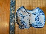 染付け 馬 菓子皿 sksp14015の画像