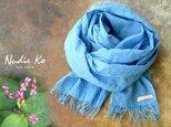 草木染ストール 藍-ai-  Japan Blueの画像