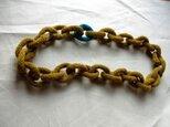 mustard turquoise chain (long)の画像