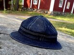 Denim Metro Hat / White stitch【受注生産】の画像