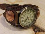 ブレスレット型腕時計/ブラウン アンティーク風の画像