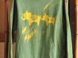 【sale】草木染め/コラボTシャツ/ぞうさん/ユニセックスSの画像
