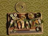 ★にぎり寿司・ほたて串焼きを添えての画像