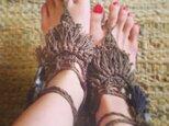 barefoot sandal(kahki)の画像