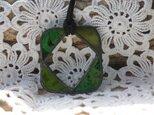 ステンドグラス ペンダント&グラスホルダー 緑の画像