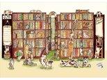 猫の図書館 ブックカバー(3枚セット)の画像