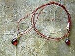 草木染シルクネックレス「モザンビークガーネット」の画像