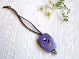 木製 鈴つき キーボルダー(紫:ピンク)の画像