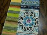 モン族刺繡パッチワークノートカバーの画像