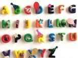 alphabet pierced earringsの画像