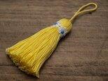 【再販】❁お花タッセル❁ 【マーガレット】バッグチャーム オーナメント キーホルダー 黄色の画像