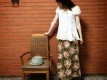 【\3300 OFF】おでかけスカート(ブーケ:カーキ地)の画像