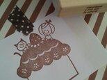 消しゴムはんこ 大きなケーキ*の画像