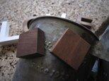 【送料無料】 木製マグネット/ウォールナット5pcsの画像