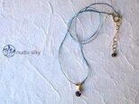 草木染シルクネックレス「アイオライト」藍 14kgfの画像