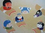 とんだりはねたり江戸時代手描きの京友禅染 絵のみの画像