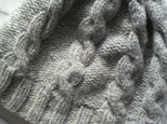 なわ編みのもっちりニット帽の画像