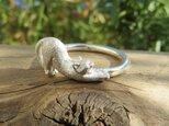 指輪 猫の伸びの画像