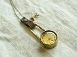 【受注生産】首からさげる時計 key gold N001の画像
