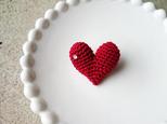 """【再販】""""HEART"""" brooch(赤)の画像"""