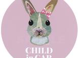 CHILD in CARマグネットステッカー《おリボンウサギ》の画像