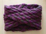 meou様 ご注文分:スヌード 紫×グレー Aの画像