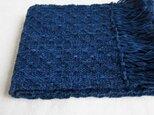 【再販】手織りの藍いろどりストールの画像
