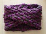 なほみ様 ご注文分:スヌード 紫×グレー Aの画像