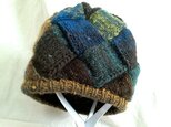 大地のバスケット編み帽(ニット帽)の画像