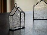 【再販】ステンドグラス 教会型飾り棚 しずくの画像