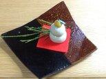 陶器の豆鏡餅の画像