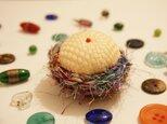 リサイクルシルク糸のちょこんとピンクッション・10の画像