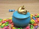 Gold Cat Candy Box-C・ターコイズの画像