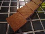 【送料無料】 木製マグネット/欅/ケヤキ 5pcsの画像