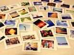 小さいポラロイド型の写真を42枚のシールに!の画像