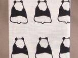 ブックカバー ハードカバーサイズ パンダ柄の画像