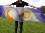 国産シルク100%手染めストール -violet&yelow-の画像